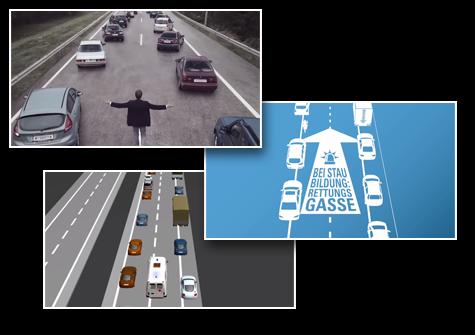 Screenshots der bekannten, österreichischen ASFINAG Videos