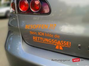Sticker: Besoffen? Nein, ICH bilde die Rettunngsgasse!