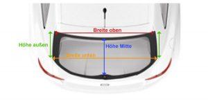 Grafik mit Darstellung der benötigten Maße