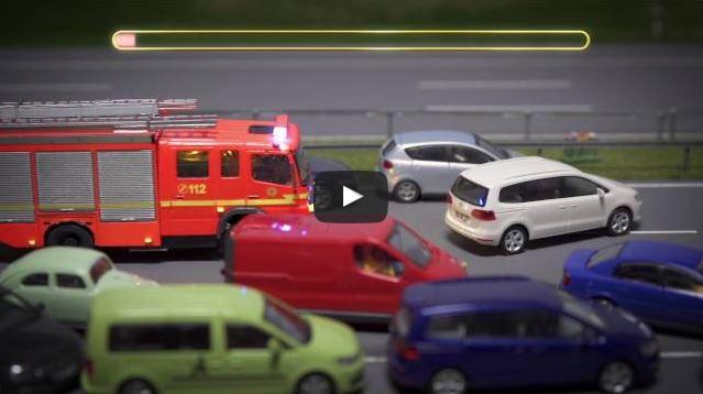 Miniatur Wunderland klärt mit Stopmotion Film über Rettungsgasse auf