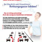 Thumbnail Rettungsgasse-Flyer, 2-seitig