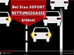 Screenshot der Rettungsgasse-Animation