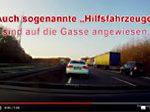 """Screenshot Youtube-Video, """"Im Stau Rettungsgasse auch für Hilfsfahrzeuge"""""""