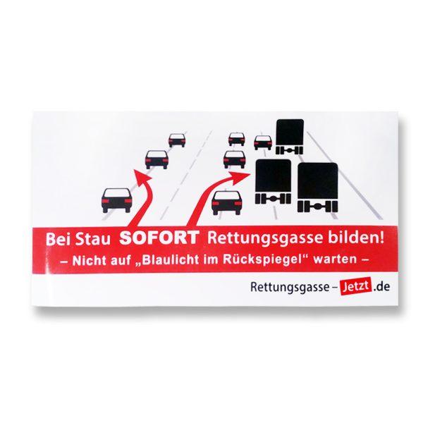 Produktfoto Rettungsgasse-Aufkleber
